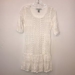 American Rag Cie White Lace Dress Size XS